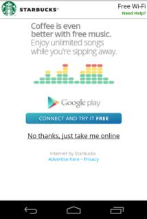 谷歌8月起为美国星巴克提供高速无线网络服务