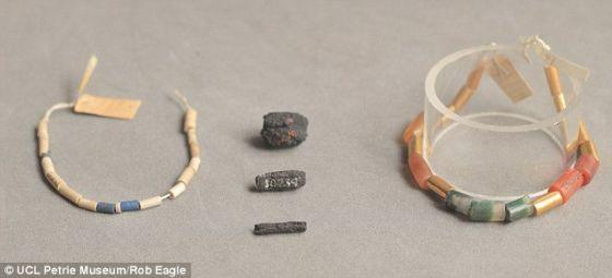 英国科学家经研究证实1911年发现的古埃及项链采用了一种不可思议的材料――拥有5000年历史的陨石