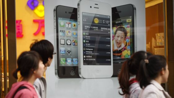 苹果iPhone是中国最受欢迎的手机之一