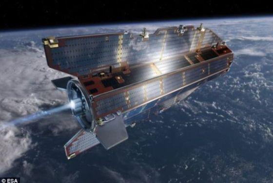 """欧洲空间局所属 """"重力场和稳态海洋环流探测""""卫星(GOCE)已经完成使命"""