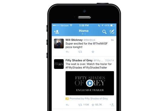 Twitter测试信息流原生视频广告