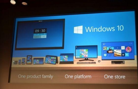 微软新系统命名为Windows 10