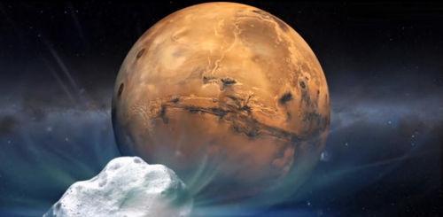"""NASA提供的""""赛丁泉""""彗星的艺术概念图像。"""