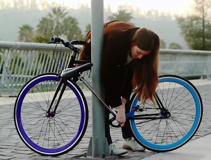 科技小制作废品做自行车图解