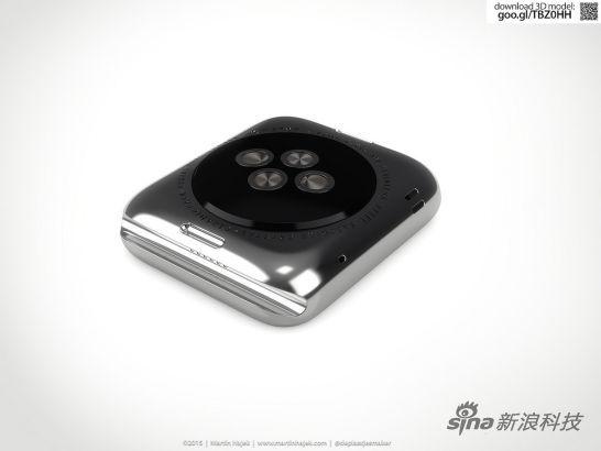 3D渲染制造Apple Watch拆解图02