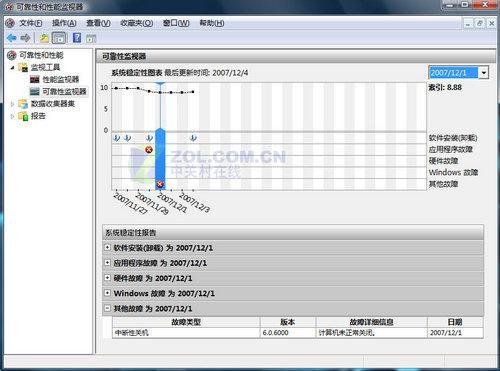 用WindowsVista隐藏命令监控系统可靠性