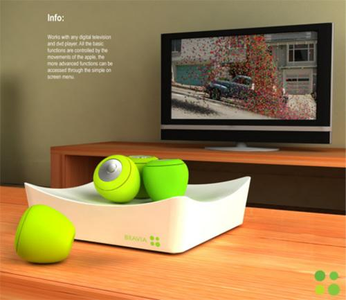 挥挥手便能操控概念性苹果风味遥控器