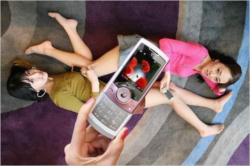 秀出曲线美腿三星推出超短裙系列手机