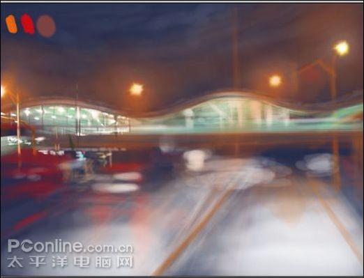 AdobePhotoshop绘制《白雪夜街景》插画