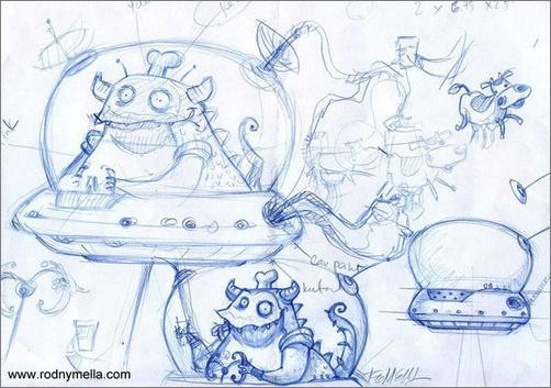 Illustrator制作外星人打劫奶牛