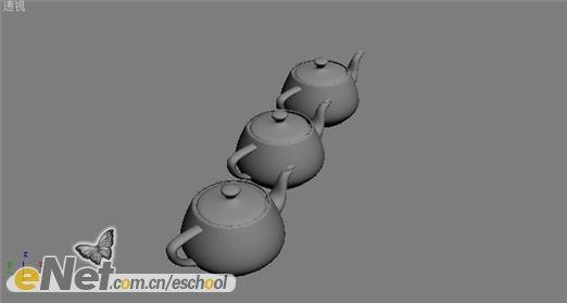 3dmax制作不同材质茶壶的投影效果