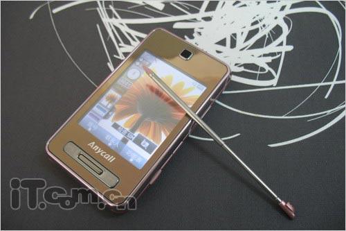 粉色妖娆三星触控手机F488E新装上市