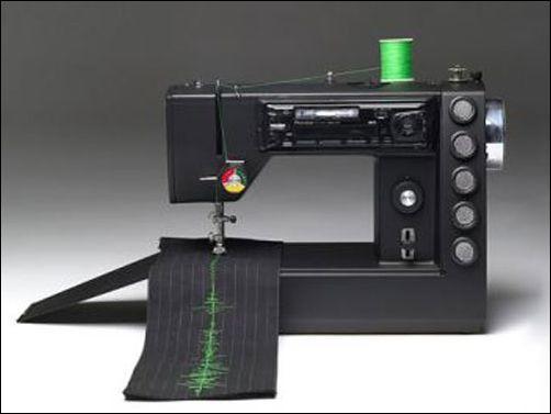 设计个性衣裤VisibleSound音乐缝纫机