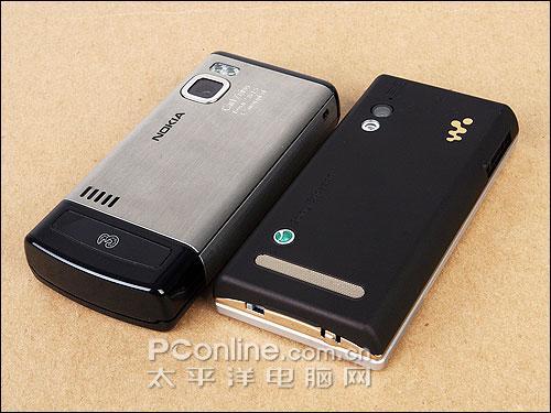 手机英雄会索爱W705对比诺基亚6500s