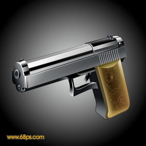 photoshop设计一把逼真的金属棚车质感制作手枪图片