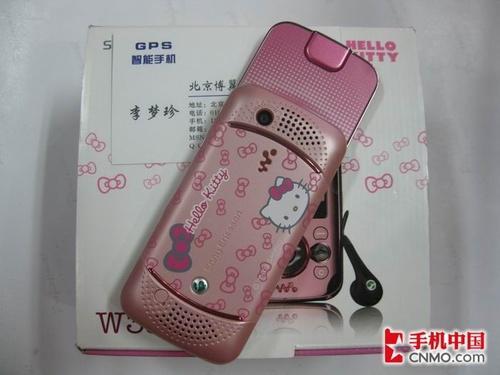 索尼爱立信W395粉色Hello kitty版到货