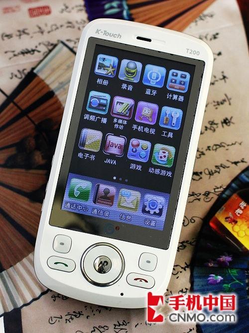 MB电视功能 天语3G触控手机T200评测高清图片