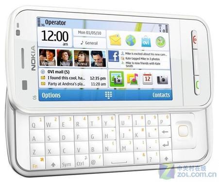 侧滑全键盘S60白色诺基亚C6效果图曝光
