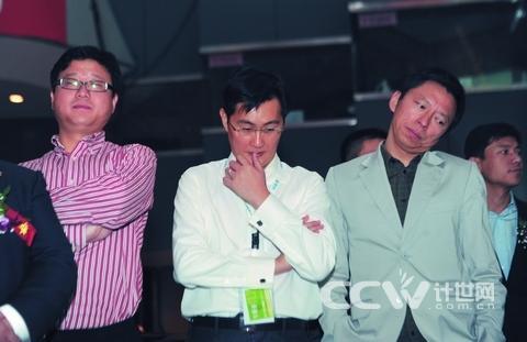 左起:丁磊、马化腾、张朝阳、李彦宏