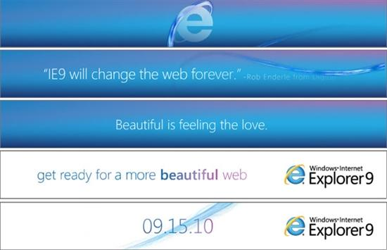 微软开始为IE9Beta宣传造势