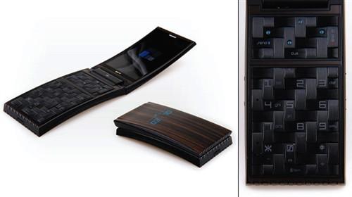 竹节键盘设计 全木质结构概念手机问世