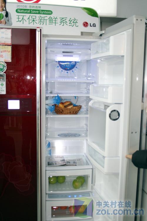 直降三千元LG带吧台对开门冰箱促销