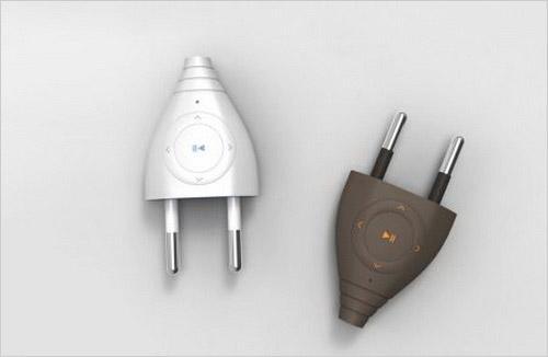 另类新潮电源插头造型的概念MP3亮相