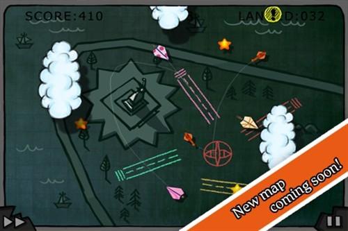 ipad策略小游戏 航空管制涂鸦纸飞机