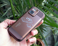 诺基亚 N97mini 棕色 背面图