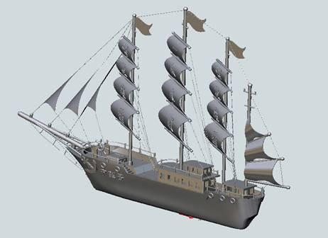 我开始试着采用传统的拉伸,扫掠功能制作,但是由于船头与船身需要有较