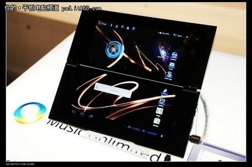 CES2012:索尼展台看双屏折叠板TabletP