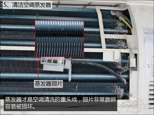 格栅式柜式空调的散热片可以透过空调出风口挡板或