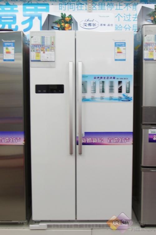 简洁白色清新设计 容声对开门冰箱新上市