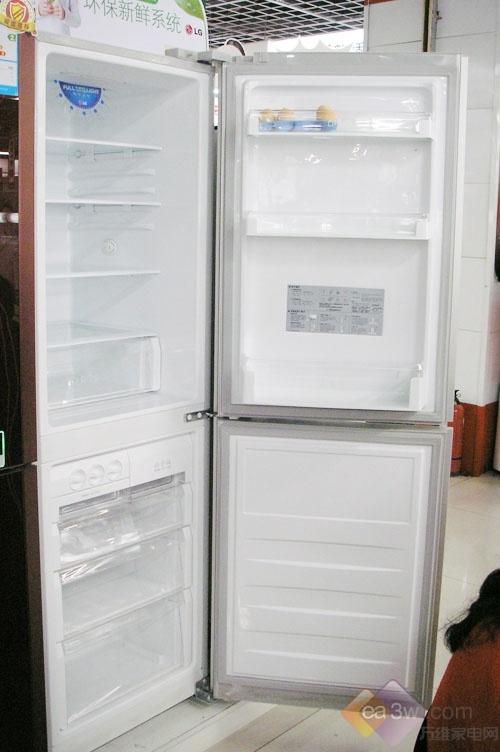 LG经典印花风格 两门冰箱促销中