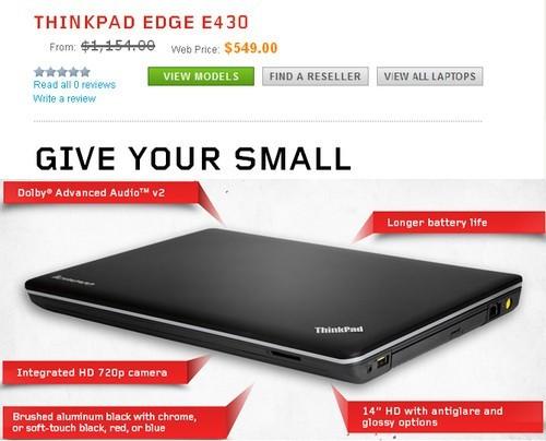 联想thinkpad e530和e430新本开售(图)