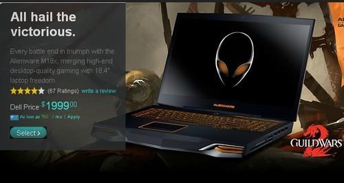 AlienwareM18x游戏新本开售(组图)
