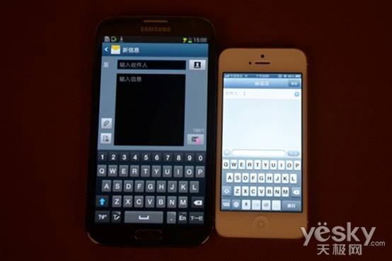 旗舰与旗舰的较量NoteⅡ对比iPhone5