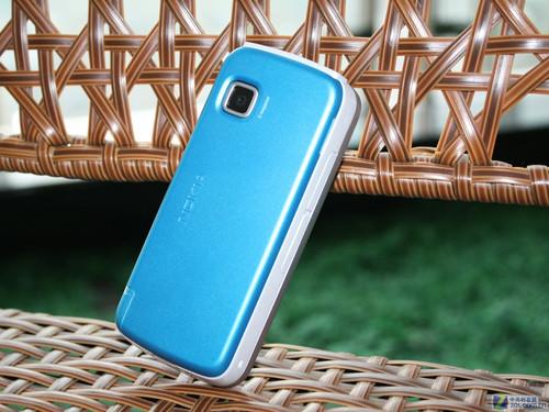諾基亞5230 藍色外觀圖