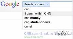 """Google测试整合""""瞬时搜索""""与""""站内搜索"""""""