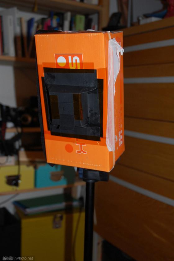 摄影DIY用鞋盒制作简易大画幅相机