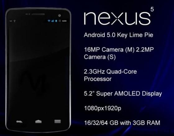 谷歌Nexus 5再曝光:配置很给力