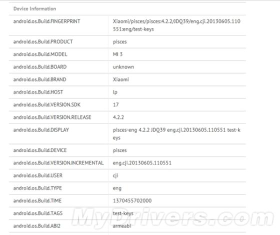 小米3代配置曝光:Tegra 4/1080p屏