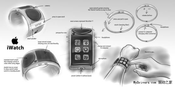 未来风十足:iWatch概念设计图赏