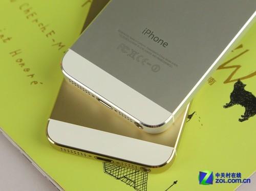 金色边框  有如香槟一般   iphone5s搭载了全新的64位a7处理器,而