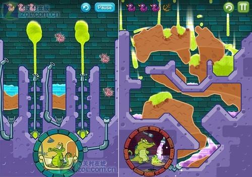 安卓游戏汇:鳄鱼爱洗澡2及类似游戏_手机