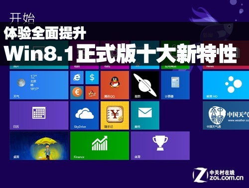 体验全面提升 Win8.1正式版十大新特性