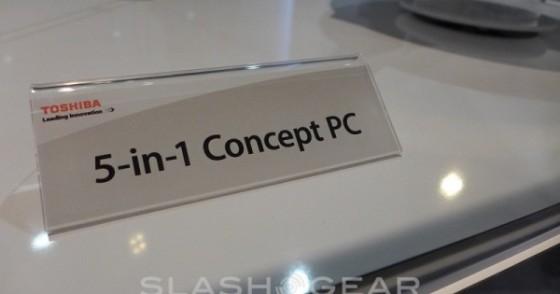 CES2014:东芝推5合1概念笔记本