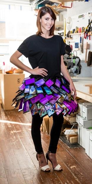 诺基亚用35部Lumia 1520做了一条裙子