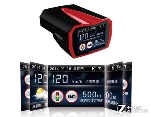 三代彩屏双冲频雷达路特易TD100简析