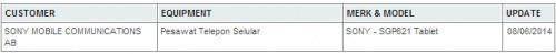 疑似索尼Xperia Z3平板核准 或IFA亮相
